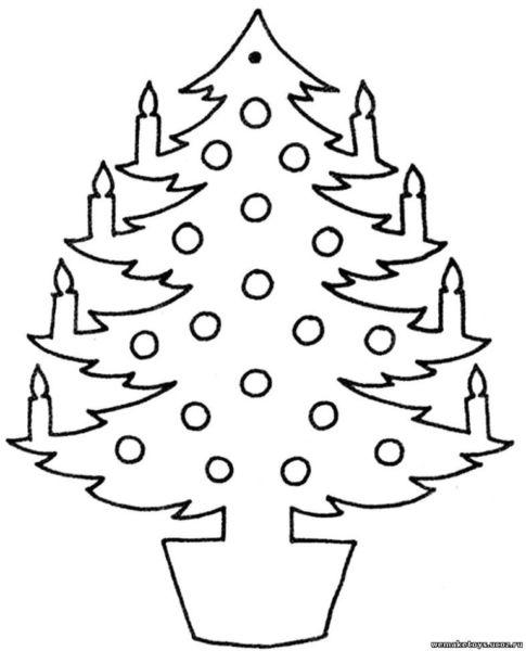 Tělor strom z papíru & # 8212; Schémata a šablony k vytvoření vánočního stromu s vlastními fází rukou 63