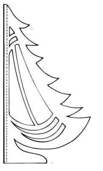 Tělor strom z papíru & # 8212; Schémata a šablony k vytvoření vánočního stromu s vlastními rukama fází 66