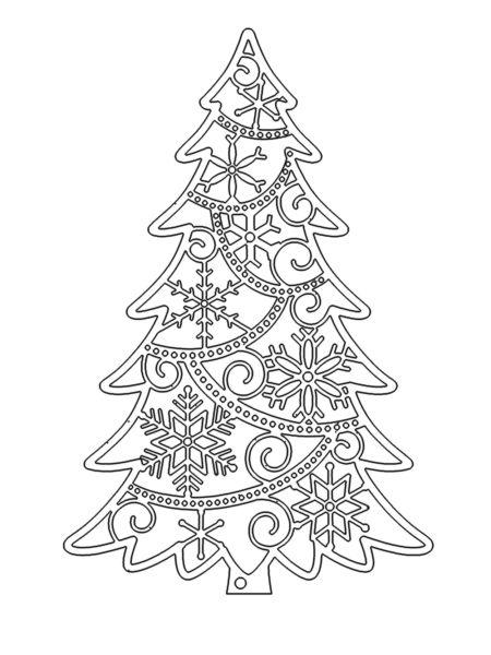 Tělor strom z papíru & # 8212; Schémata a šablony k vytvoření vánočního stromu s vlastními rukama fáze 67