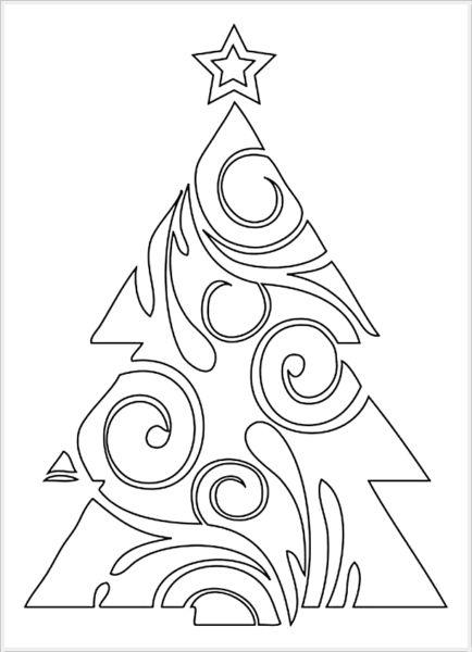 Tělor strom z papíru & # 8212; Schémata a šablony k vytvoření vánočního stromu s vlastními fází rukou 69