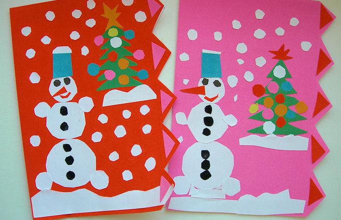Диснея, открытки на новый год из цветной бумаги