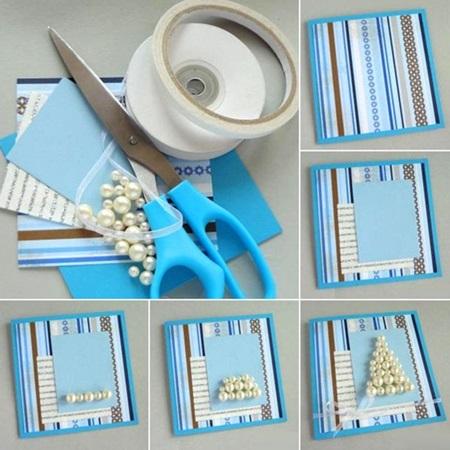 کارت پستال های سال نو آن را برای کودکان انجام می دهند: کلاسهای کارشناسی ارشد و قالب های کارت پستال برای سال نو 2021 مرحله 20