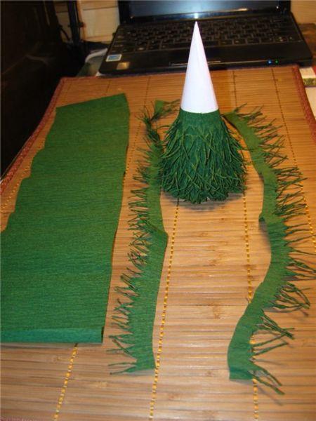 Tělor strom z papíru & # 8212; Schémata a šablony k vytvoření vánočního stromu s vlastními rukama fáze 56