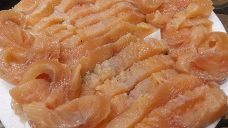 Salmon sốt muối thấp & # 8212; 7 công thức nấu ăn Salting Salmon tại sân khấu sân khấu 12