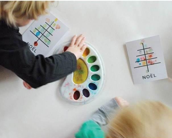 کارت های سال نو آن را برای کودکان انجام می دهند: کلاس های کارشناسی ارشد و قالب های کارت پستال برای سال نو 2021 مرحله 138