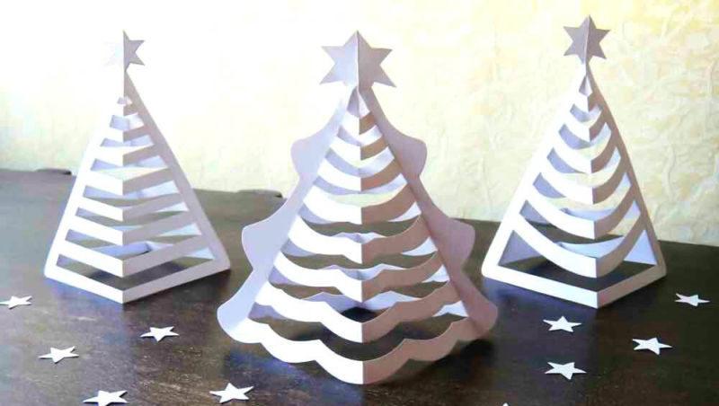 Tělor strom z papíru & # 8212; Schémata a šablony k vytvoření vánočního stromu s vlastní fázi rukou 7