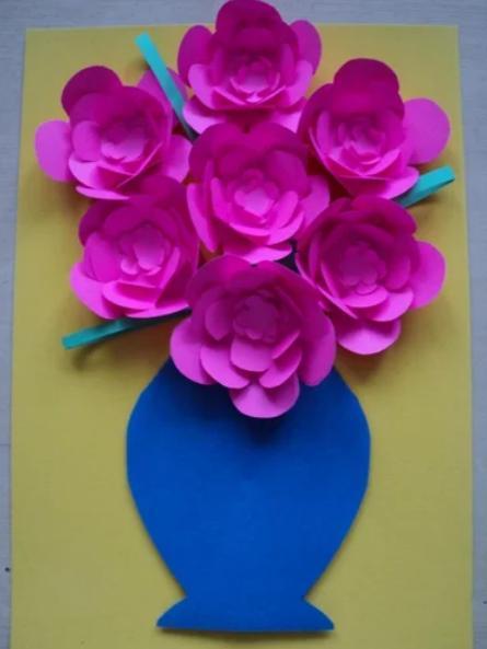 Paper Flowers & # 8212; Mga scheme at mga template para sa paglikha ng mga kulay ng papel na yugto 151.