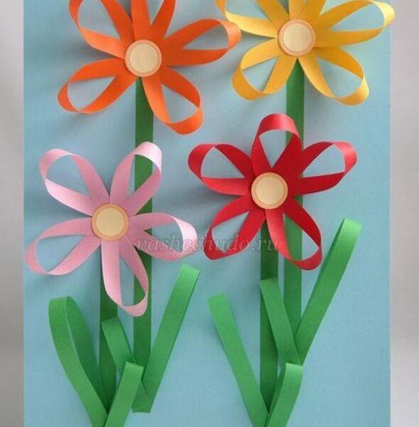 Paper Flowers & # 8212; Mga scheme at mga template para sa paglikha ng mga kulay ng papel na yugto 71.