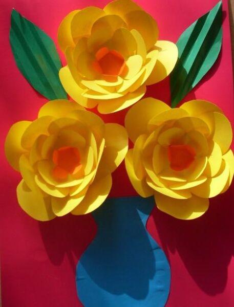 Paper Flowers & # 8212; Mga scheme at mga template para sa paglikha ng mga kulay ng papel na yugto 148.