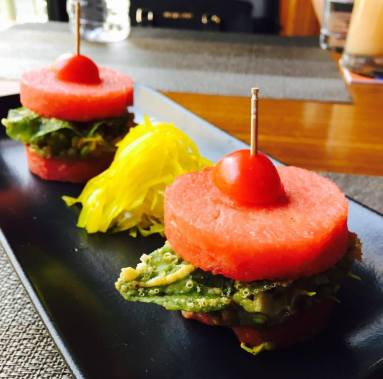 Watermelon and Sprouts Slider