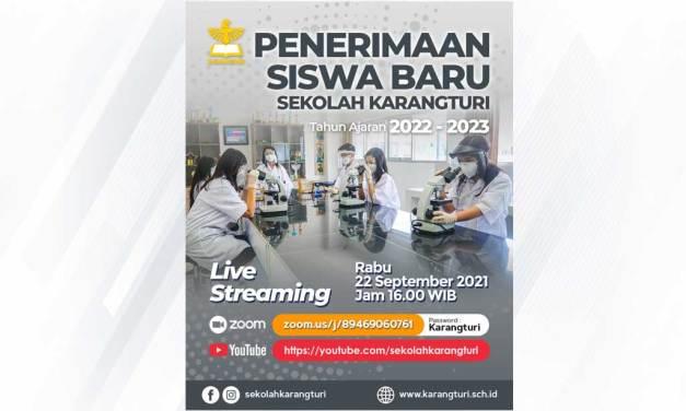 Live Streaming Penerimaan Siswa Baru 2022-2023