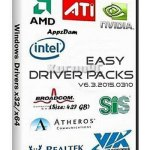 Easy DriverPacks for Windows XP/ 7/ 8/ 8.1 v6.3.2015.0310 [2015] (x86-x64)