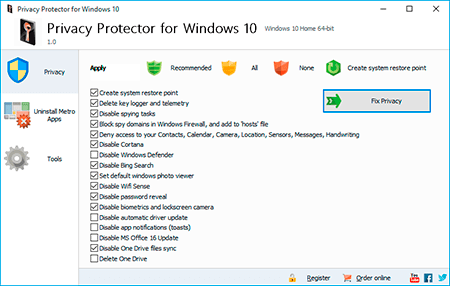 SoftOrbits Privacy Protector for Windows 10