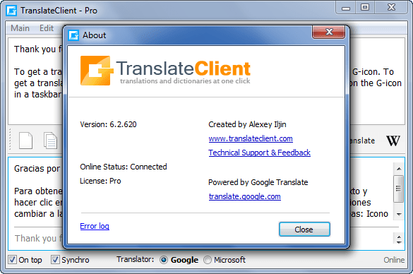Client for Google Translate Pro 6.2.620 Full Download
