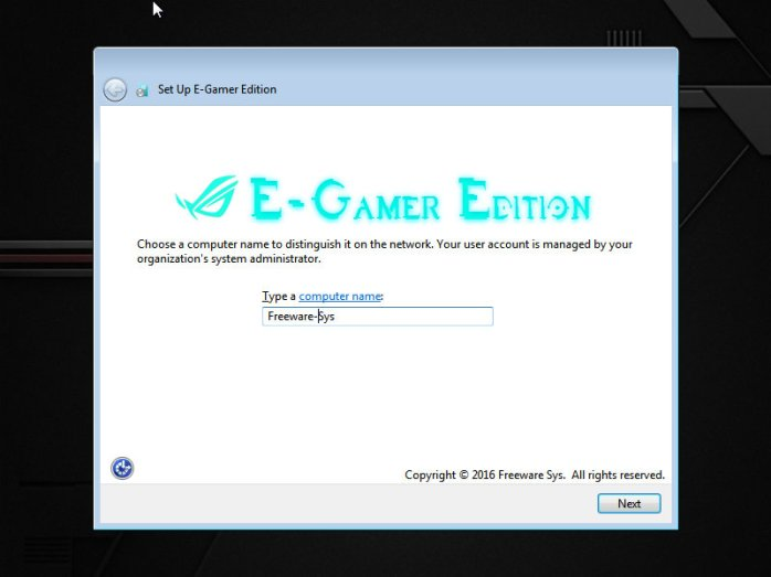 Windows E-Gamer Edition