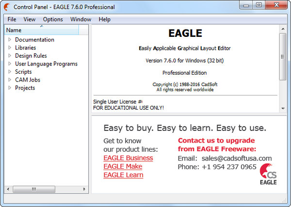 CadSoft Eagle Professional 7.6.0 [Latest] - Karan PC
