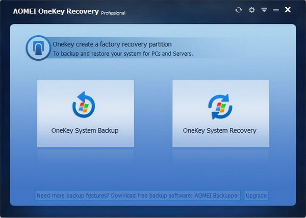 AOMEI OneKey Recovery Professional
