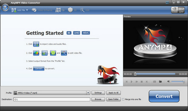 AnyMP4 Video Converter Free