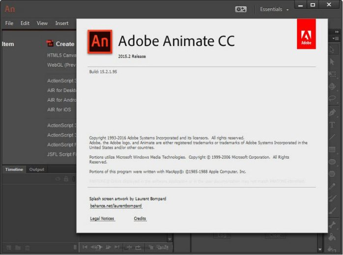 Adobe Animate CC 2015.2 15.2.1.95