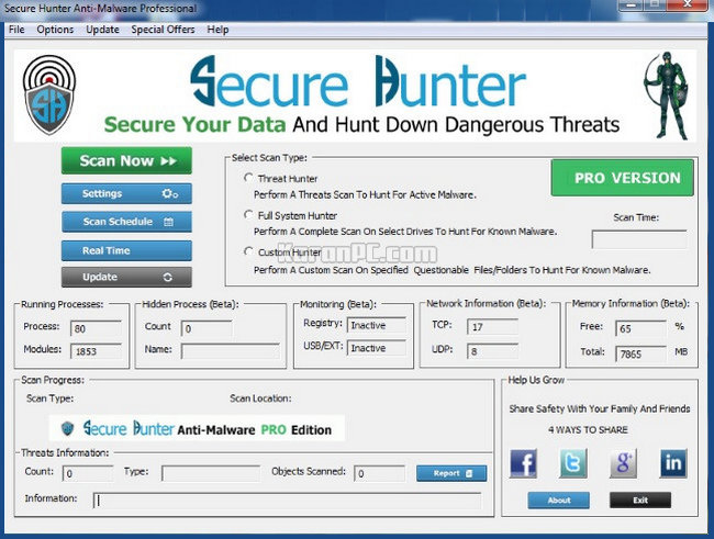 Secure Hunter Anti-Malware Professional