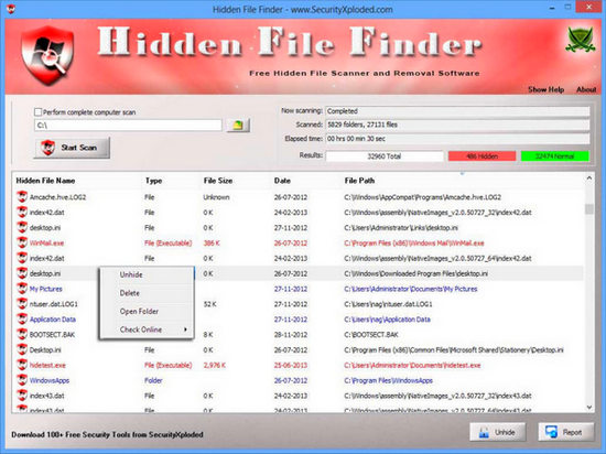 Hidden File Finder
