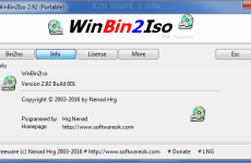 WinBin2Iso 3.55 Free Download + Portable