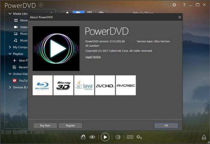 CyberLink PowerDVD Ultra 17.0