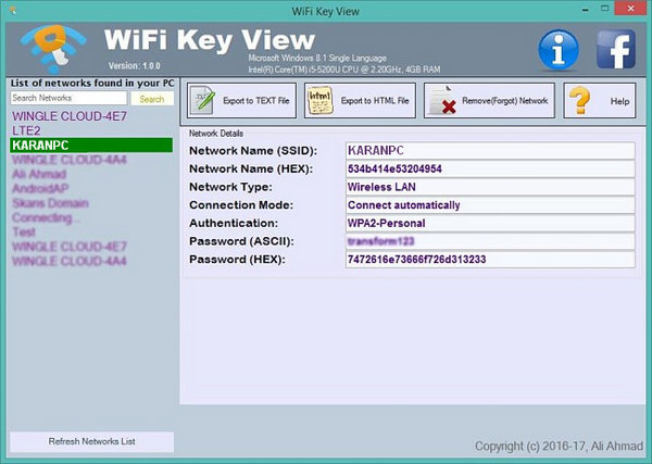 Wifi Key View 1.0.1 Free Download