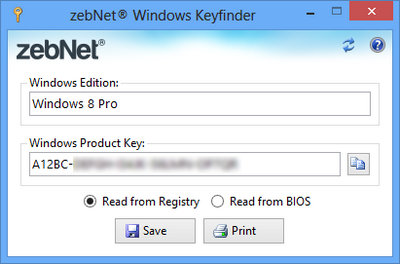 zebNet Windows Keyfinder