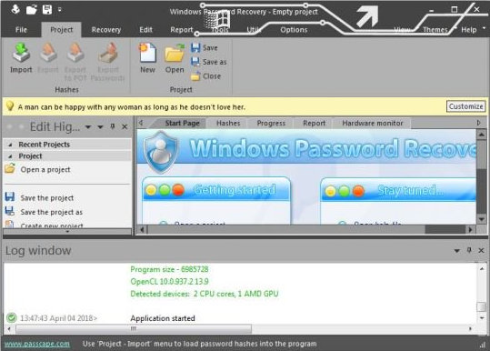 windows password recovery advanced version
