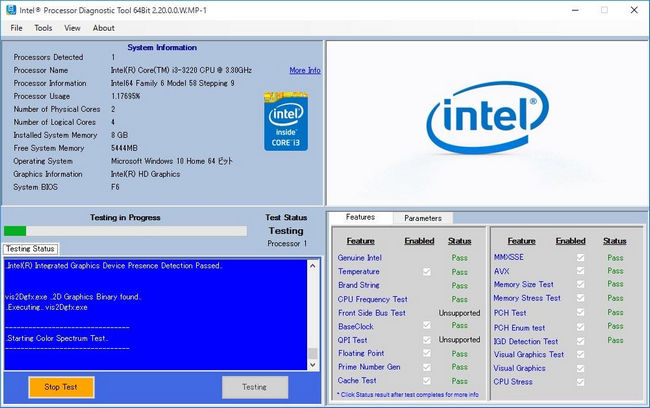 Intel Processor Diagnostic Tool Free Version