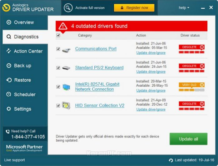 auslogic driver updater free key