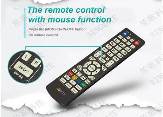 mouse function of remote conttrol of karaoke