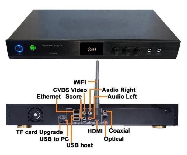 5Tb Android 4.4 HD karaoke player HDMI 1080P with Auto Volume Control 32000+ song-31