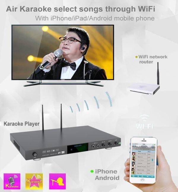 KHP-8866 ANDROID 5tb Vietnamese English karaoke player with 53000+ songs 2 remote-137