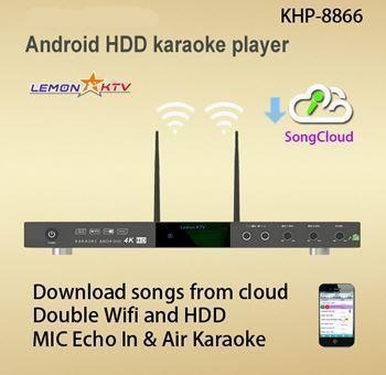KHP-8866 ANDROID 5tb Vietnamese English karaoke player with 53000+ songs 2 remote-140