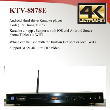 Android KTV-8878E karaoke player 4tb harddrive load with 33000+ Vietnamese songs-0