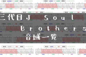 三代目J Soul Brothers歌手音域一覧トップ