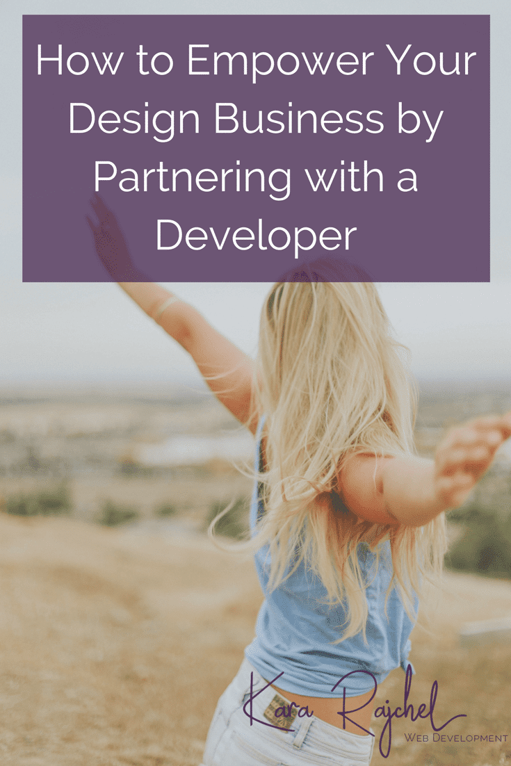 Empower your web design business by partnering with a web developer! A web developer is your secret weapon to giving your clients top a quality website, while also saving time and your sanity. Web developers aren't just for big studios! Learn how a web developer can help your business go to the next level!