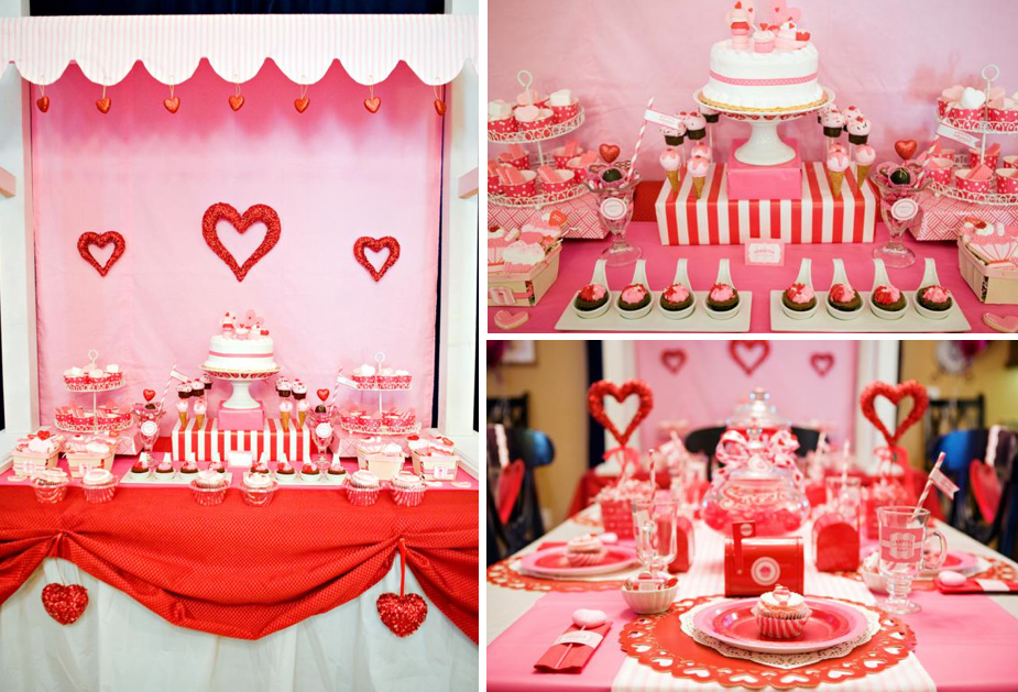 Karas Party Ideas Sweet Valentines Day Girl Boy Party