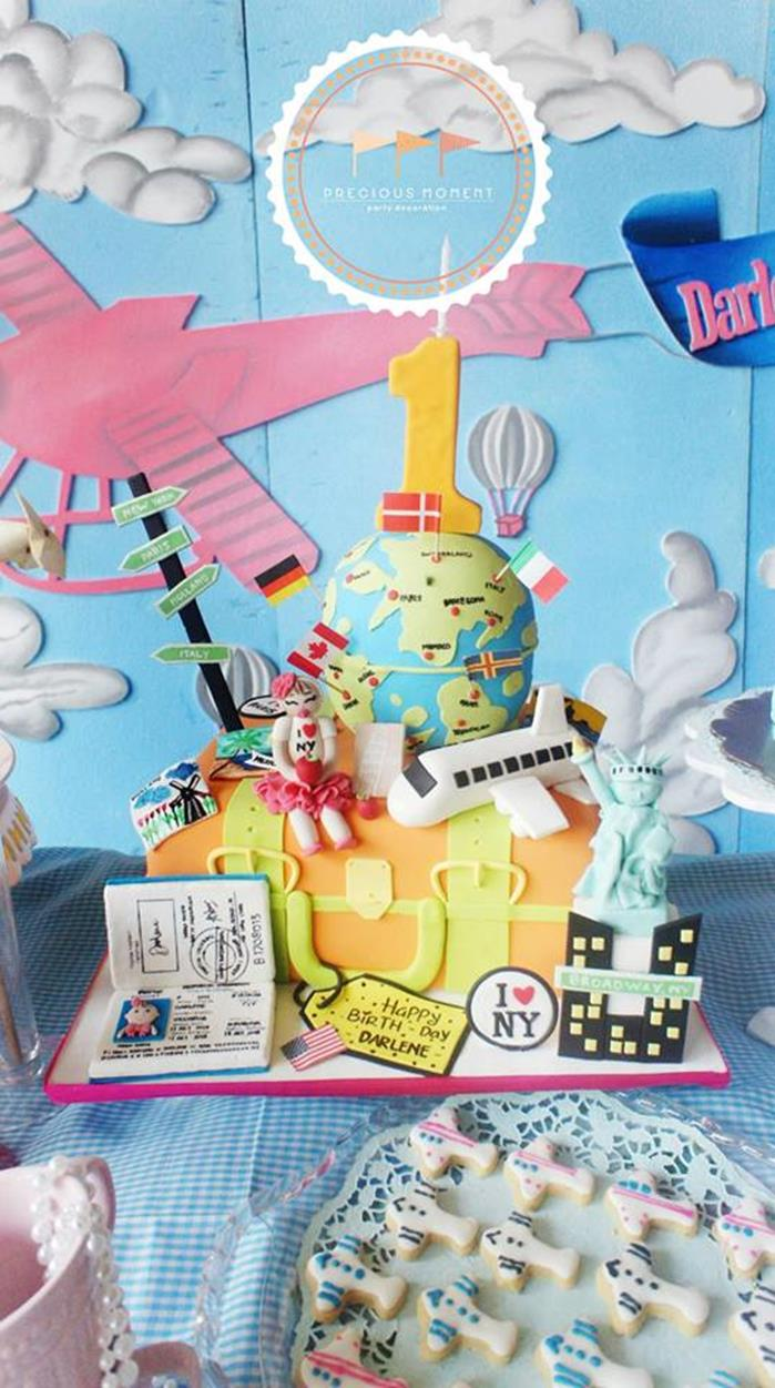 Karas Party Ideas Travel Themed 1st Birthday Party With