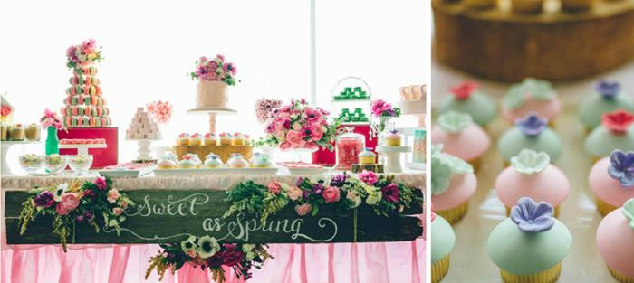 Kara S Party Ideas Sweet As Spring Dessert Table For
