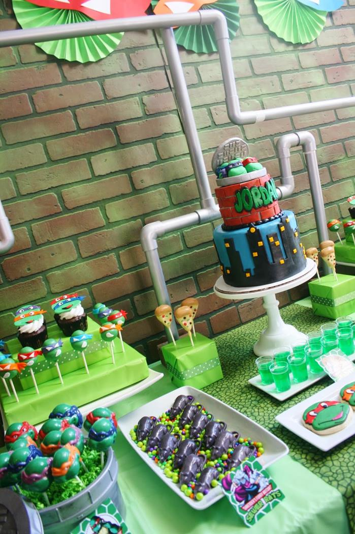 Karas Party Ideas Teenage Mutant Ninja Turtles Party With