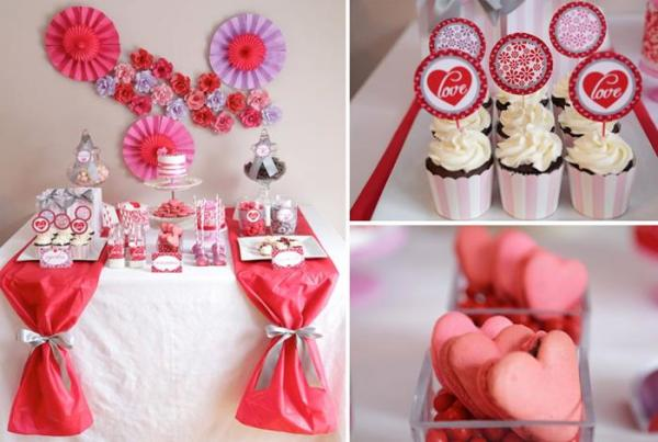 Kara's Party Ideas Valentine's Day Sweet Table with Such ...