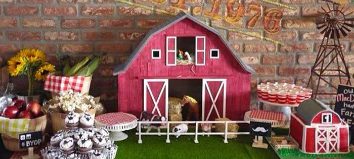 Kara S Party Ideas Old Mcdonald Farm Themed Birthday Party