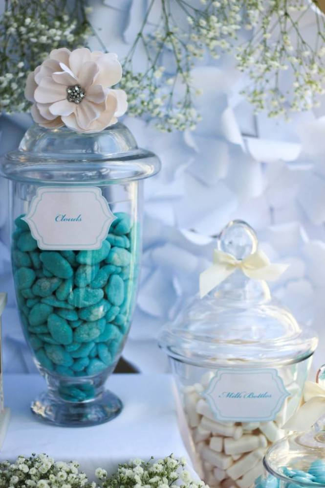 Baby Shower Dessert Table From A Blue Gold Via Kara S Party Ideas