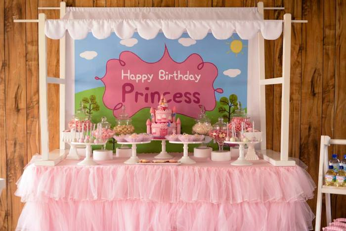 Karas Party Ideas Peppa Pig Princess Themed Birthday
