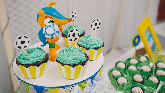 Karas Party Ideas Brazil World Cup Soccer Themed Birthday
