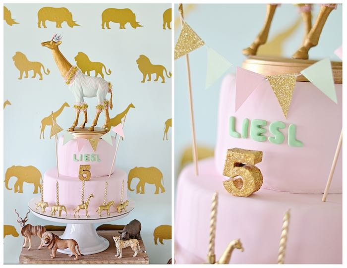 Karas Party Ideas Vintage Pastel Wild Safari Birthday Party