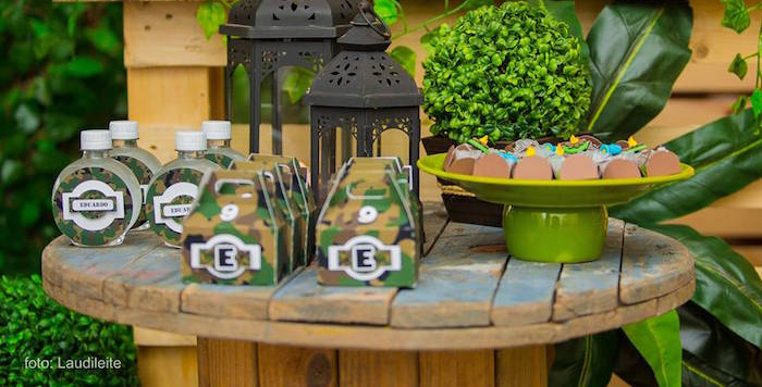 Karas Party Ideas Camouflage Camping Birthday Party